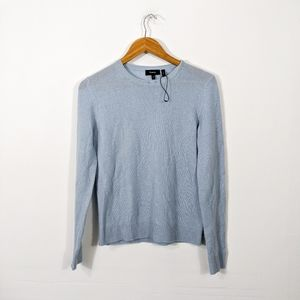 Theory Blue Feather Cashmere Crewneck Sweater NWOT